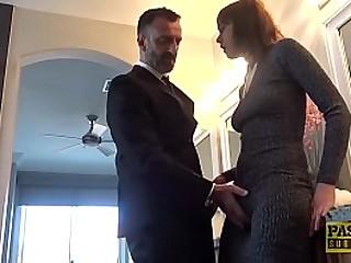 Fancy English woman railed by maledom