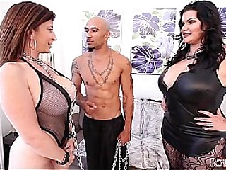 King Noire and Angelina Castro Dominate Sara Jay Plumper THREESOME