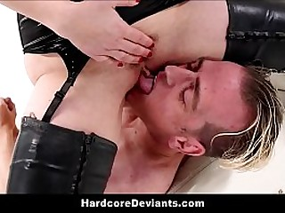Sexy Predominant Femdom Mummy Aiden Starr Fisting Anal Fucks With Dildo With BDSM Humiliation For Boyfriend