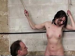 Kinky masochistic submissive Honesty needle pain and crying slaveslut domination of brunette bondage babe