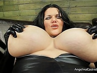 Mistress Angelina Castro Shows Off Her HUGE Tits!
