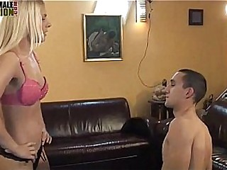 Female domination facesitting and face slapping
