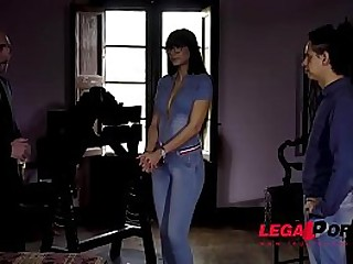 Submissive BDSM slut Mia Marin ball-gagged & screwed by dominant stud's big dick GP424