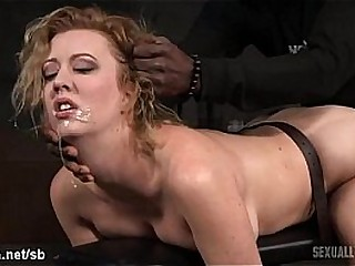 Atrocious doggystyle banging for hot victim while she gives wet deepthroating
