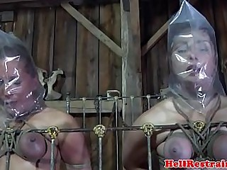 Domination & submission slave duo punished in maledoms dungeon