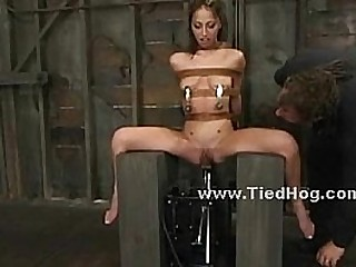 Babe gets herself in grief in bdsm sex