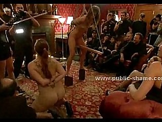 Naked sex slaves public torturing