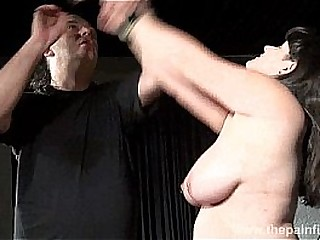Busty bbw Andreas hardcore breast caning and extreme amateur bdsm of punished