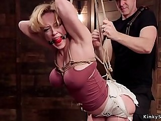 Huge tits and huge ball-sac ash-blonde tormented in different harassment bondage