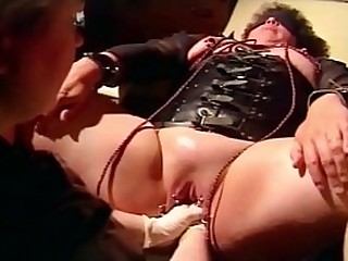 French Mistress Angelique going knuckle deep pussy with both arms