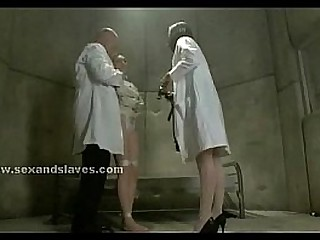 Nurse in threesome bondage sub sex