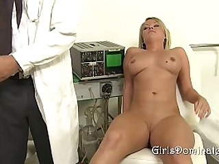 Blond Slut Gets Dominated The Doctor