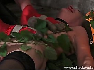 Stinging nettle Sadism & Masochism and fledgling restrain bondage of tantalized slaveslut Lolani in extreme