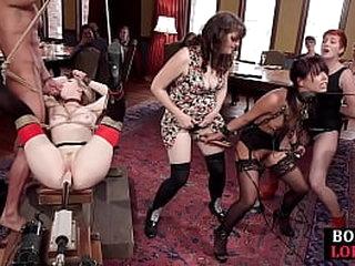 Restrain bondage subject toyed with vibrator and fucked by maledom