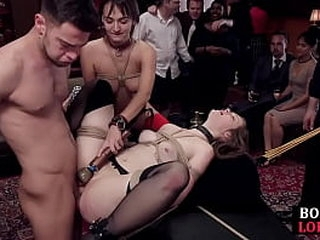 BDSM subs spanked and fucked by their maledoms