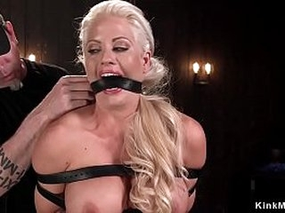 Warm Milf suffers torment and metal contraption bondage