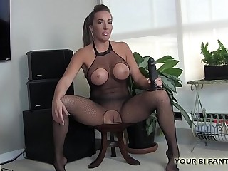 I will tease your holes with this big rubber cock
