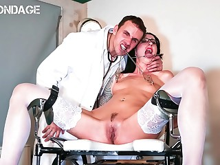FORBONDAGE  German Babe Stella Star Try Some Mad Doctor Treatments