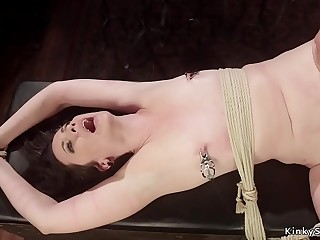 Lesbian sub made rimming mistress