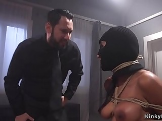 Huge tits protester anal fucked bdsm