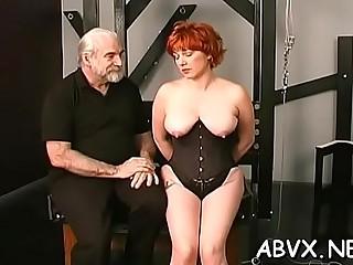 Extreme bondage for hot sweetheart