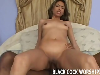 Watch his big black cock totally stretch out my pussy