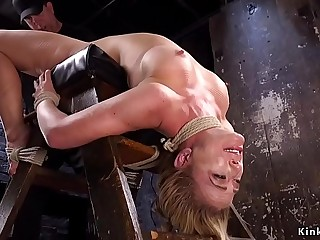 Busty backbend blonde sub pussy fucked