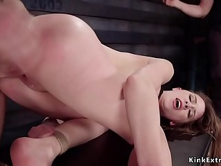 Brunette trainee fucked and whipped