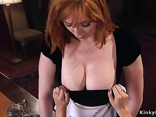 Dude cuaght fucking maid by his wife