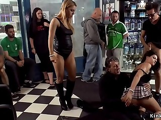 Anal public fuck at gas station shop